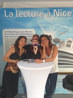 Interview France Bleu au salon du livre de Nice